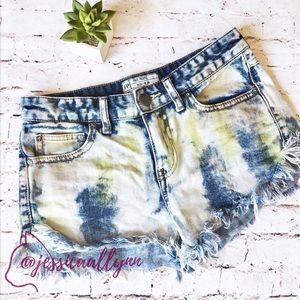 Free People | dyed fringe cutoff shorts daisy duke